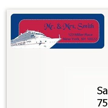 Amazon Com Cruise Ship Bridal Shower Return Address Labels