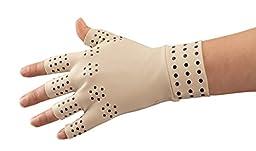 EasyComforts Arthritis Compression Gloves With Magnets (85% Nylon/15% Lycra) Medium