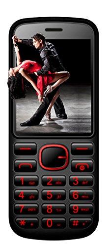Six Mobile New Salsa Black Unlocked GSM Dual-SIM Cell Phone