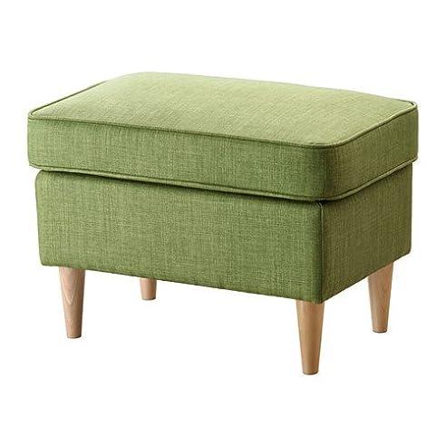 Ohrensessel ikea grün  IKEA STRANDMON Hocker Skiftebo grün: Amazon.de: Küche & Haushalt