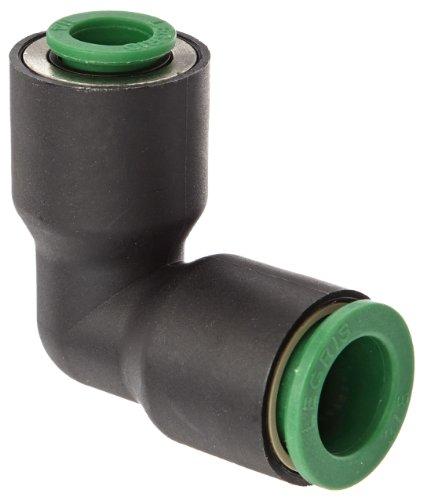 Legris 3102 60 56 Nylon Push-to-Connect Fitting, 90 Degree Union Elbow, 3/8