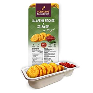 Cornitos Jalapeno Nachos and Salsa Dip Tray 70g