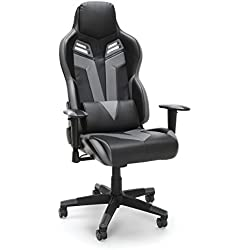 RESPAWN-104 Racing Style Gaming Chair - Reclining Ergonomic Leather Chair, Office or Gaming Chair (RSP-104-GRY)