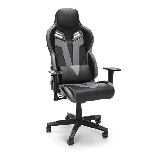 RESPAWN-104 Racing Style Gaming Chair - Reclining Ergonomic Leather Chair, Office or Gaming Chair (RSP-104-GRY) OFM Education