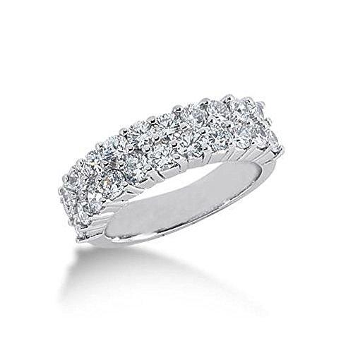 14K Gold Diamond Anniversary Wedding Ring 22 Round Brilliant Diamonds 1.98ctw 103WR160814K - Size 9.5