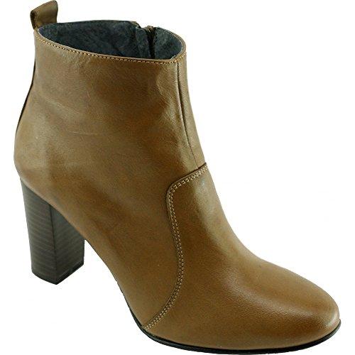 Tailles Cuir A DE KIRRY Pointures Luxe Bottine Chaussures Femme Gold Talon Rond Marque BEAUMOND Tout YVES C Cuir Petites Bout beige g1qWBaq