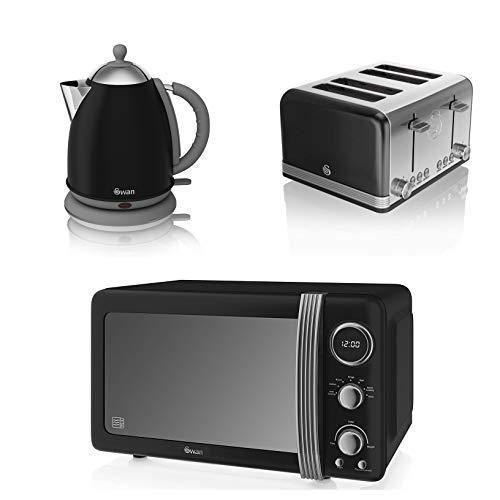Cisne Cocina Electrodoméstico Negro Retro Moderno Juego - 1 ...
