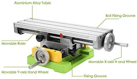 HYLH Fresadora CNC Mini Mesa de Trabajo de Banco Compuesto Mesa de ...