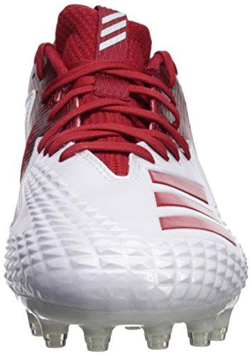 Adidas Heren Freak X Carbon Mid Voetbalschoen Wit / Power Rood / Wit