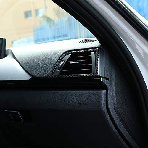YIWANG Real Carbon Fiber Car Side Air Vent Frame Trim Stickers 2Pcs For BMW 3 Series GT F30 F33 F34 F36 2013-2019 Left Hand Drive Auto Accessories