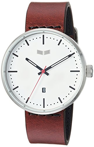 Vestal 'Roosevelt Italian' Quartz Stainless Steel and Leather Dress Watch, Color:Brown (Model: RS42L03.CVBK)
