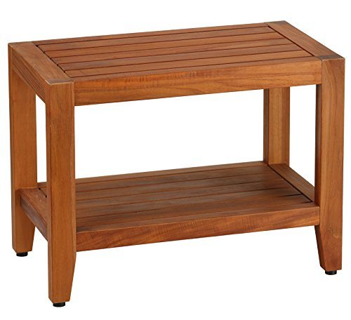 Bare Decor Teak Serenity Spa 24'' Bench with Shelf by Bare Decor