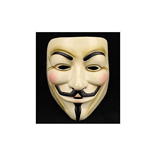 V for Vendetta Mask Adult Guy Fawkes Anonymous USA Occupy Halloween Costume - Yellow (V Is Vendetta)
