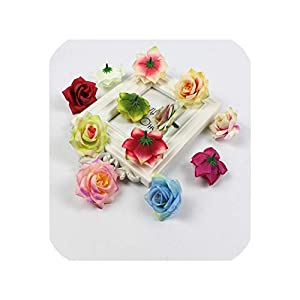 Barry-Story 30pcs/lot 5cm Artificial Rose Flower Head Suitable for Home Wedding Decoration Fake Flower 44