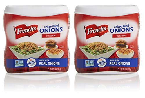 French Onion Soup Chicken - French's Original Crispy Fried Onions, Certified Kosher, Made in the USA, 6 oz (Pack of 2)