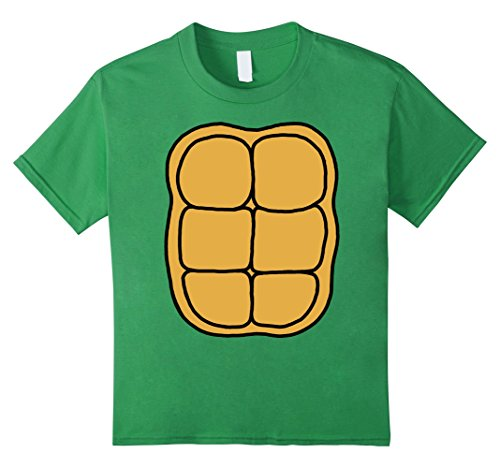 Kids Turtle Shell Shirt KIDS DIY Halloween Costume FRONT + BACK 6 Grass - Diy Halloween Costumes Teenage Girls
