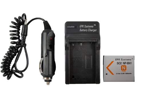 GPK Systems Battery & Charger for Sony Cyber-shot Dsc-tx5...