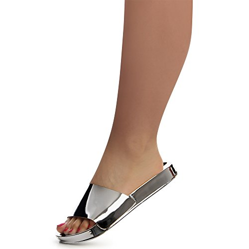 topschuhe24 Sandalettes Femmes Femmes Sandales topschuhe24 Argent dwwzqP0W