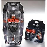 M5 Magnum 5 razor Blades with Trimmer, 4 Catridges + Razor + Travel Case