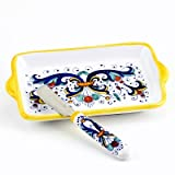 RICCO DERUTA: Butter Dish and Spreader SET [#9510.2041-RIC]