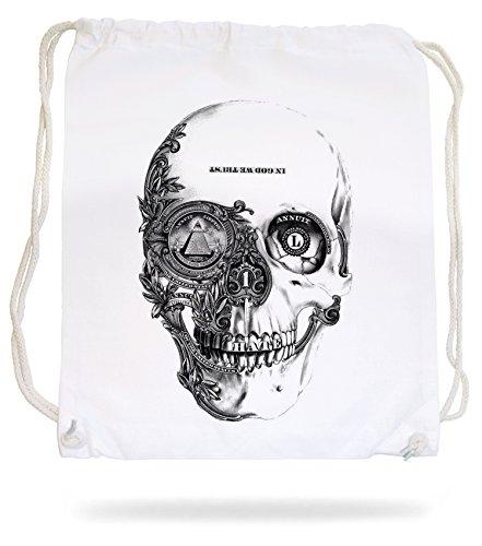Dollar Skull Gymsack White Certified Freak