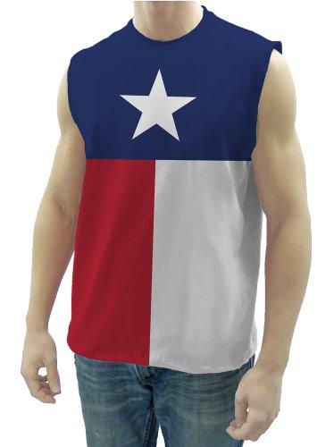 Men's Texas Flag Sleeveless T-Shirt (Large)
