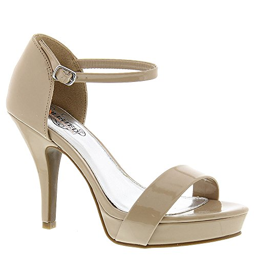 Kenneth Cole Unlisted, A Production Womens Nude Faux-Leather Real Action Open-Toe Heel 10 M US