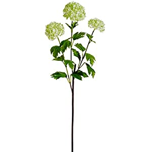 "29"" Silk Snowball Flower Spray -Light Green (Pack of 12) 88"