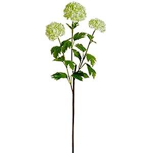 """29"""" Silk Snowball Flower Spray -Light Green (Pack of 12) 63"""