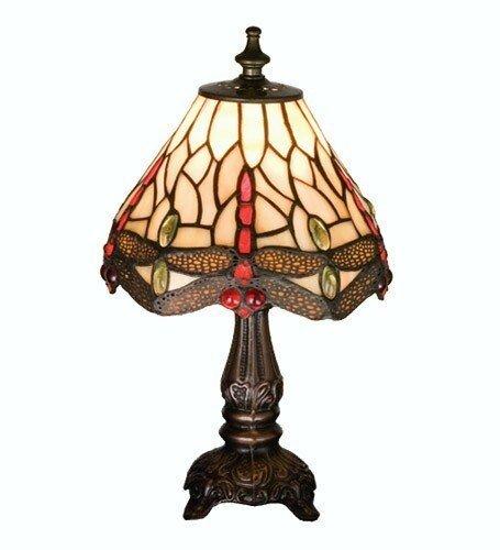 Meyda Tiffany Scarlet Dragonfly Mini Lamp, MT-17525