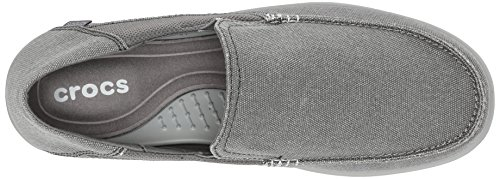 Charcoal Zapatillas Hombre 2 Gris M Crocs Luxe Light Lona de Santa Cruz Grey OXwSvAg