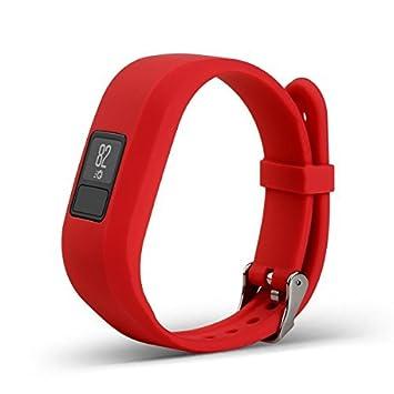 Bemodst Correa Strap para Reloj Garmin Vivofit 3, Pulsera de Silicona Brazalete de Reemplazo Banda de Repuesto para Hombre Mujer (Rojo): Amazon.es: Deportes ...