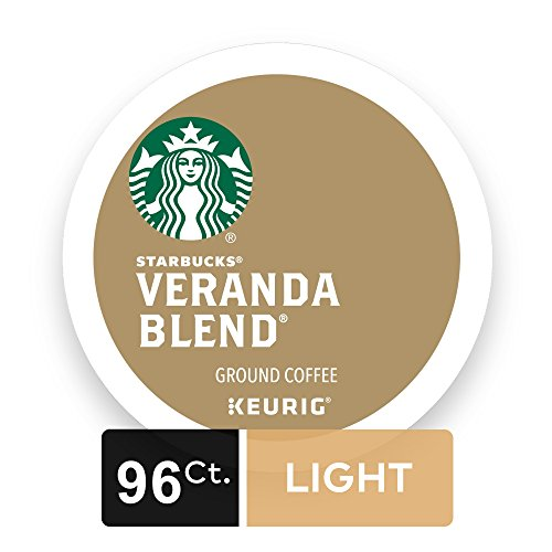 Starbucks Veranda Coalesce Blonde Light Roast Single Cup Coffee for Keurig Brewers, 4 Boxes of 24 (96 Total K-Cup pods)