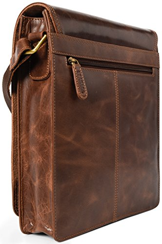 A Di Pelle Crazyvinkat Valvetbrown Bufalo Vintage In Borsa London Leabags Tracolla smooth Vera T6n1H