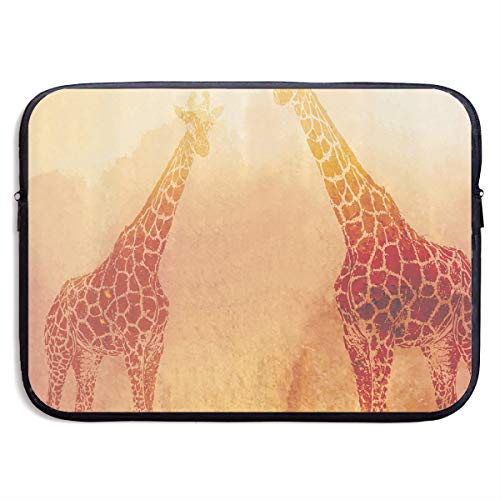 Tropic African Giraffes Retro Vintage Safari Laptop Sleeve Bag Compatible Notebook Computer Protective Cover for 13 Inch -