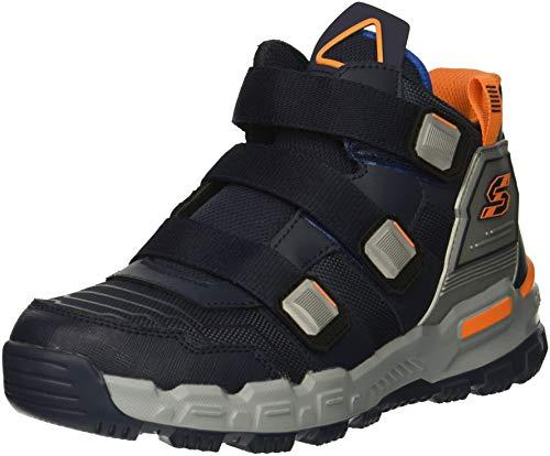 Skechers Kids Boys Adventure Track Sneaker, Navy/Silver, 13 Medium US Little Kid