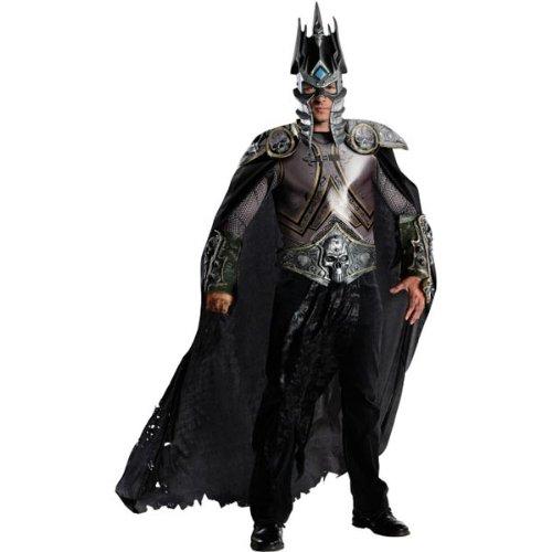 World Of Warcraft Adult Arthas Set, Silver, Standard - World Of Warcraft Arthas Costume