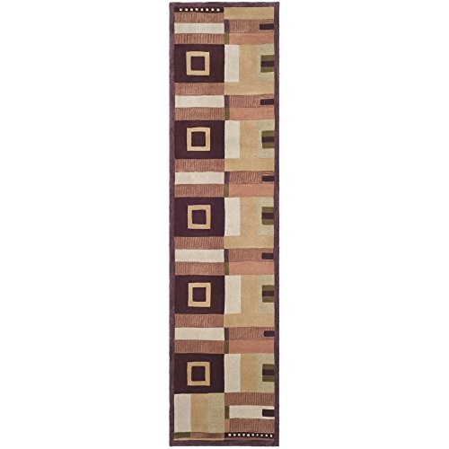 10' Rodeo Drive Collection (Safavieh Rodeo Drive Collection RD609A Handmade Modern Abstract Multicolored Wool Runner (2'6