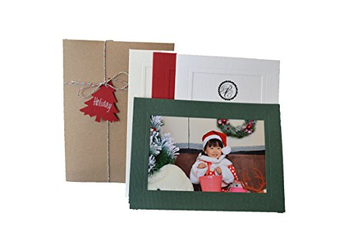 Holiday Collection - 4x6 Photo Insert Note Cards - 24 Pack by Plymouth Cards