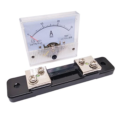 Analog Panel AMP Current Ammeter Meter Gauge 85C1 0-30A DC and Shunt