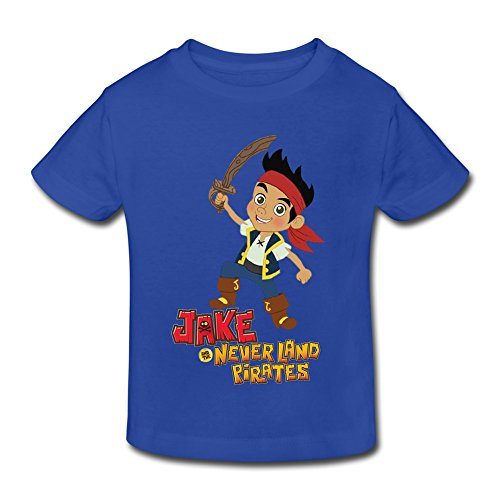 SHFL Little Kids Toddler Jake And The Neverland Pirates Short Sleeve Baby T-shirt RoyalBlue 4 Toddler