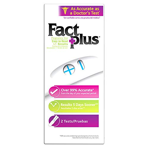 Fact Plus Select One-Step Pregnancy Tests 2 Each (Pack of 12)