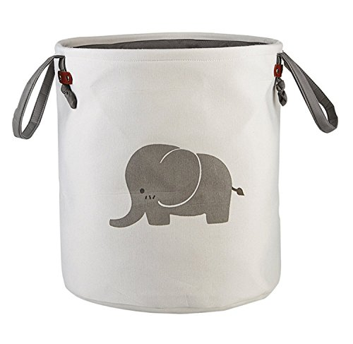 Storage Baskets,Cotton foldable round Home organizer Bin for Baby Nursery,Toys,Laundry,Baby clothing,Gift Baskets(Elephant)