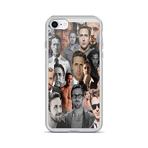 iPhone 7 Case iPhone 8 Case Clear Anti-Scratch Ryan Gosling Collage, Ryan Gosling Cover Phone Cases for iPhone 7/iPhone 8, Crystal ()