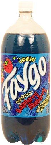 Faygo Raspberry Blueberry Soda Pop, 2-liter plastic