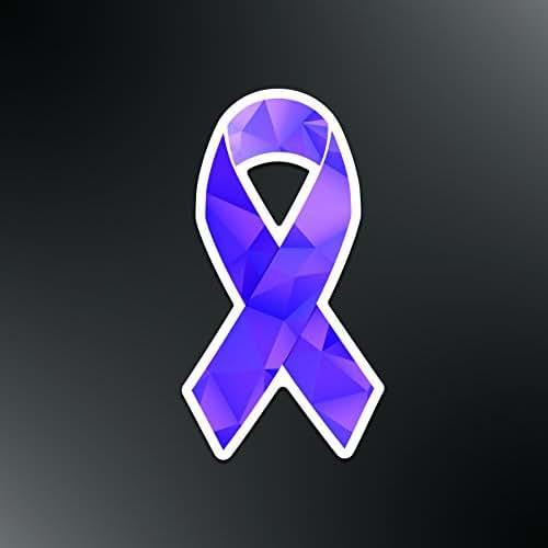Lupus Awareness Ribbon Vinyl Decal Sticker Purple Women Unbreakable Warrior Car 5.5-Inches Premium Quality UV Resistant Laminate JMM043