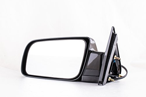 Driver Side Paint Black Non-Heated Folding Door Mirror Cadillac Escalade Chevy Blazer Suburban Tahoe GMC Yukon C/K 1500 2500 3500 (1988 1989 1990 1991 1992 1993 1994 1995 1996 1997 1998 1999 2000) ()
