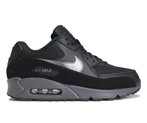 Nike Mens Air Max 90 Running Shoe Black/Thunder Grey/Black (9)