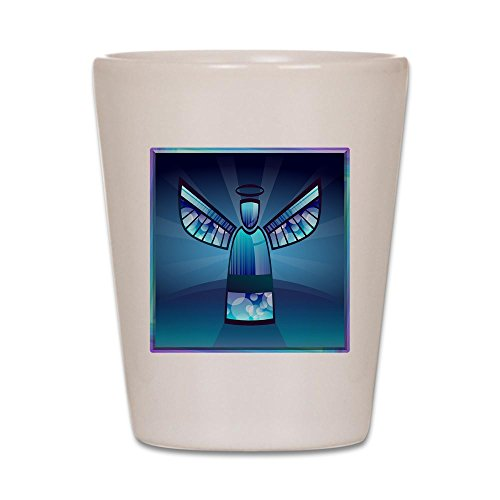 - Shot Glass White of Contemporary Abstract Stained Glass Angel