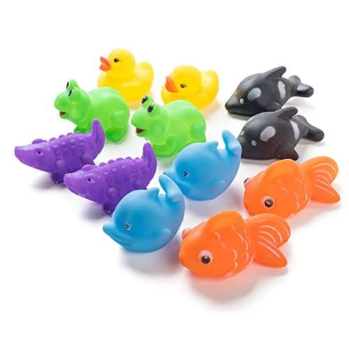 "Neliblu 12 Pack Squirting Bath Toys 3/"" Rubber Dinosaur Squirts .. Free Shipping"